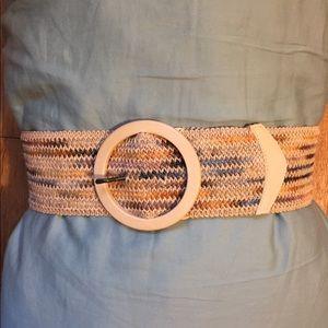 Anthropologie circle buckle belt